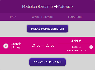 Bergamo - Katowice