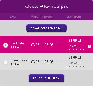 Katowice - Rzym