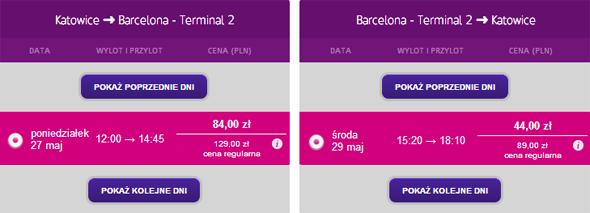 Tanie loty z Katowic do Barcelony