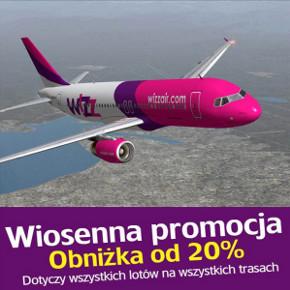 Wizz Air: Niższe ceny biletów dla wszystkich – 20% (od 5 do 7 kwietnia)