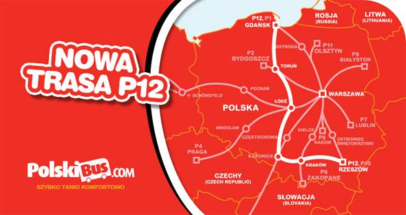 Polskibus nowa trasa