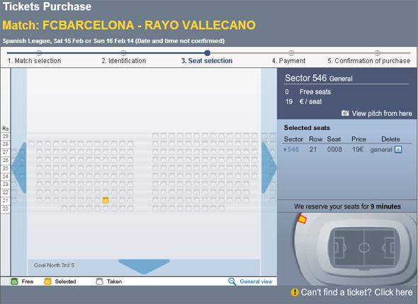 Fc Barcelona bilet na mecz