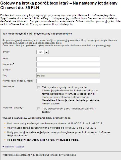Lufthansa kod