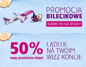 Bilecikowa promocja od Wizz Air: 50% zwrotu za bilety dla dzieci