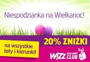 Wizz Air: 20% zniżki dla członków Wizz Discount Club (19 – 20 kwietnia)