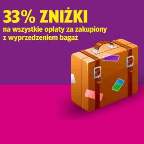 WizzAir: 33 % zniżki na bagaż