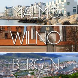 Wilno + jednodniówki w Malmo i Bergen z Katowic za 163 PLN
