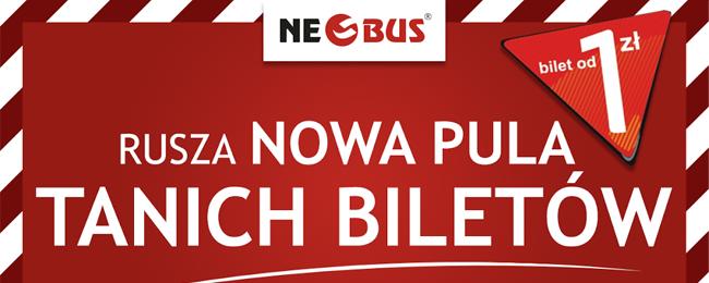 Nowa pula biletów w NeoBus na wakacje od 1 PLN