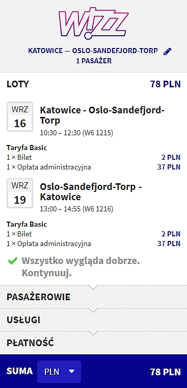 Katowice - Oslo